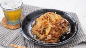 豚キムチ蒸しレシピ画像